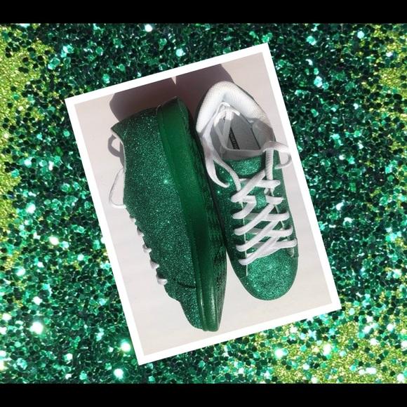 Womens Emerald Green Custom Glitter